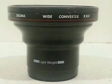 Sigma wide Converter X 0.5 lens For AF Video Camera Light Weight 77 -Vintage