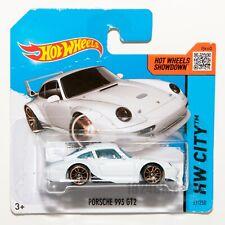 Porsche 993 GT2 white, 2014 Hot Wheels scale 1:64, rare collectable gift