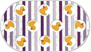 "Rubber Duck Duckies Printed Bubble Non Slip Bathtub Mat - 16"" X 28"" NEW"