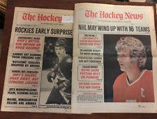 1977-78 The Hockey News Lot Atlanta Flames Lysiak Colorado Rockies Paul Gardner