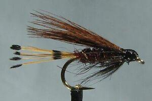 1 x Mouche de peche Noyée Mallard Claret H10/12/14 mosca wet fly trout fishing