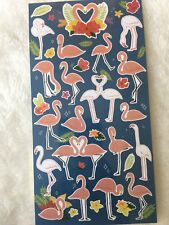 Flamingo Stickers love Animal heart Scrapbook diary Cardmaking art