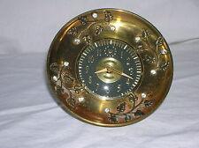 Vintage Sentinel Radium Wind-Up Alarm Clock Retro Deco Rhinestones Leaves Brass