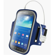 Blue Sports Armband for Samsung Galaxy S4 Active I9295 Android Gym Running