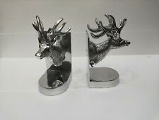 Decorative Bookend Pair with Deer Head