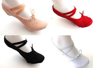 Canvas Ballet Gymnastic Yoga Shoes Split Sole Pink Black Red White