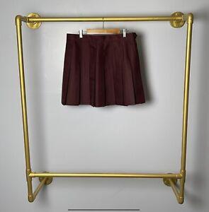 New American Apparel Pleated Tennis Skirt Truffle Cheerleader XL Women Brown