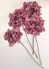 Oversized Set of 4 Flowers Floral Stems Bouquet Almost 2 Feet Tall! Purple New