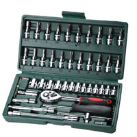46 Sets of Sleeve Tool Sleeve Ratchet Screwdriver Combination