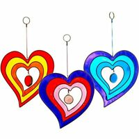 Heart Suncatcher Stained Glass Effect Hanging Mobile Sun Catcher Handcrafted