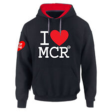 Manchester One Love I Love Manchester Ariana's Premium Contrast Hoodie S-5XL