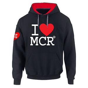 Manchester One Love i Ariana's Premium Contrasto Felpa con Cappuccio S-5XL