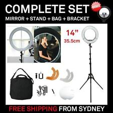 "Dimmable Diva LED Mini Ring Light 14"" / 35.5cm 40W Mirror Stand Make Up Studio"