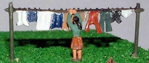 Washing line A62p PAINTED N Gauge Scale Langley Models People Figures 1/148