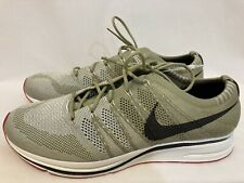 US 13 Mens Nike Flyknit Trainer Neutral Olive Velvet Brown Shoe AH8396-201