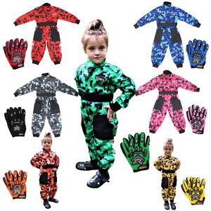 ZORAX Kids Motocross Race Suit Boys Overalls Child Junior & MX Gloves