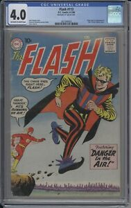 Flash 113 CGC 4.0 1st Appearance of The Trickster