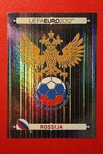 Panini EURO 2012 N. 108 ROSSIJA BADGE  NEW With BLACK BACK TOPMINT!!