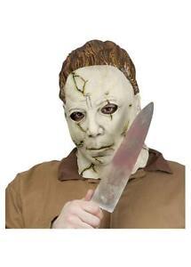 Halloween Michael Meyers Adult Costume Mask & Knife Set
