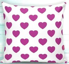 "2 Piece 18""x18"" Decorative Pillow Case- Pink Hearts Theme -PRICE DROPPED"