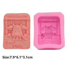 Cow Baby Silicone Cake Mould Fondant Sugar Soap Chocolate Decorating Tools