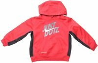 NIKE Boys Hoodie Jumper 2-3 Years Red Polyester  LO01