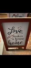Love Makes Your House A Home Valentines Day Easel Sign Tiered Tray