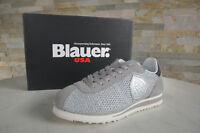 BLAUER USA Gr 39 Sneakers Schnürschuhe Schuhe Bowling grau silber NEU UVP 130 €