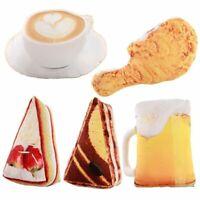 3D Toy Pillow Food Plush Cake Coffee Beer Stuffed Cushion Sofa Home Decor Gift
