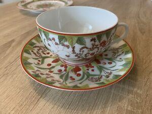 Hermes Pythagore Frühstückstasse Kaffeetasse Porzellan