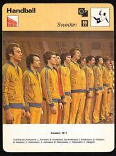 1978 Sportscaster Card Handball Sweden #38-23 NRMINT/MINT.