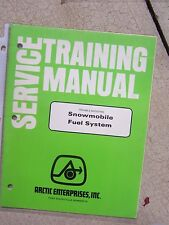 Arctic Cat Snowmobile Fuel System Service Training Manual Troubleshooting T