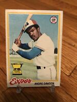 1978 Topps Andre Dawson #72 Expos OF Cubs