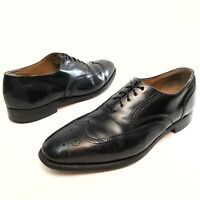 @@Johnston Murphy Oxford Optima Wing Tip Brogue Mens Black Leather Shoes 11 D