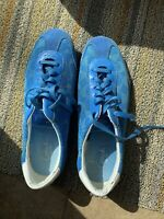 Coach Women's Neala Bright Blue Monogram Mesh Suede Sneakers Shoes Size 9 M