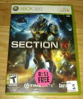 SECTION 8 - XBOX 360 - COMPLETE WITH MANUAL - FREE S/H - (HH)