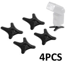 4PCS Hot Shoe Flash Light Base Mount Stand Holder for Canon Nikon Cameras Black