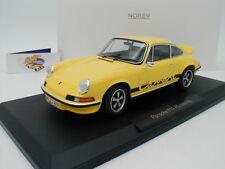 """Norev 187638 # PORSCHE 911 RS Touring Sportwagen Baujahr 1973 """" gelb """" 1:18 1,-€"""