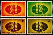 ✔️ FR. GUINEA 1963 - FAO AGAINST HUNGER -  MI. 179/182  ** MNH [A30179]