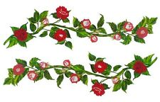 Tatouage Rose Vines 4 feet Dry rub Transfer