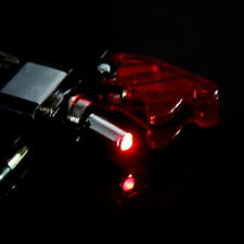 Racing Car 12v Rocker Ignition Switch Panel Led Engine Start Push Button Red