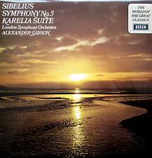 SPA 122 Sibelius Symphony no. 5 Alexander Gibson 1971 NM/EX Decca Stereo LP