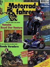 Motorradfahrer 12/98 1998 Armec-BMW Cagiva Canyon Ducati ST4 Peugeot Elyséo YZF-