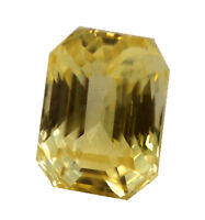 4.79 Ct GII Certified Natural Yellow Sapphire Loose Excellent Luster No Heat Gem