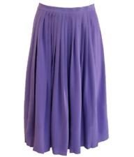 Ralph Lauren Purple Label Women's Purple  Pleated A-Line Skirt Size 4 small ***