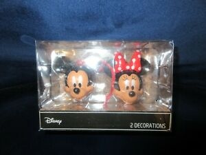 BNIB Disney Mickey & Minnie Mouse Christmas Tree Decorations set 2