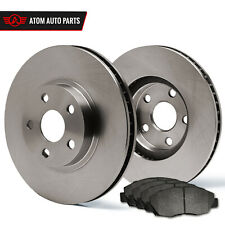 03 Fit Chrysler Town&Country w/Rear Drum (OE Replacement) Rotors Metallic Pads F