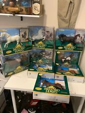 LOT OF 9 , 1996 TREASURED HORSES COLLECTION ERTL COLLECTIBLES