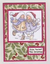 Blank Handmade CHRISTMAS Greeting Card ~ Enjoy Yourself This Christmas