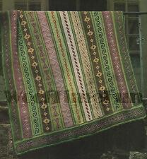 Crochet Pattern GEOMETRIC Design afgani/Coperta cross stitch dettaglio. 52x68''.
